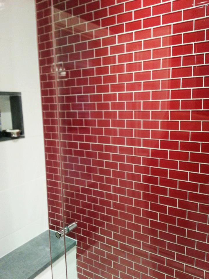 Architectural ceramics blog all shades of tile page 2 for Red accent bathroom