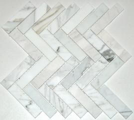 1x4 calacatta herringbone