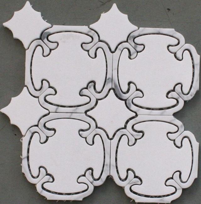 Calligrpaphy-Thassos-P + Carrara Venatino-P